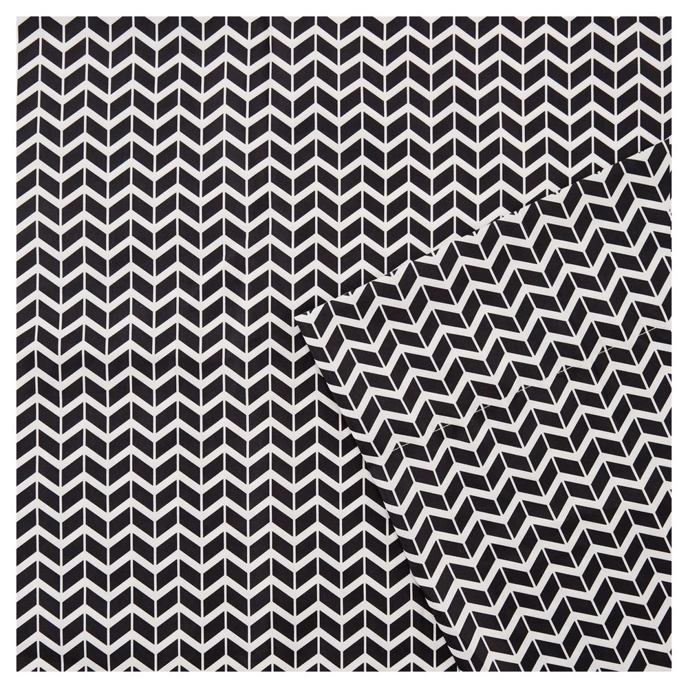 Chevron Microfiber Sheet Set - Black (King)