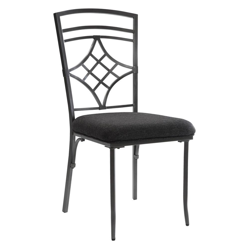 Acme Furniture Set of 2 Burnett Side Chair Black/Dark Gray