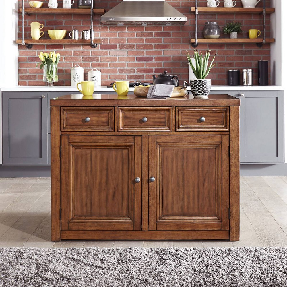 Sedona Wood Top Kitchen Island Brown - Home Styles