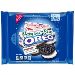 Oreo Peppermint Bark Chocolate Sandwich Cookies - 10.7oz