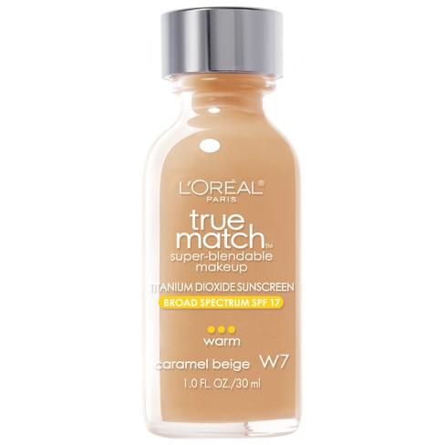 L'Oreal Paris True Match Super-Blendable Makeup - Tan Shades - 1 fl oz