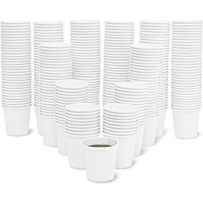 300-Count 4oz Paper Cup, Insulated Cups for Cold & Hot Drink, Small Disposable, Espresso, Mouthwash, White