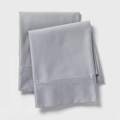 King 800 Thread Count Solid Performance Pillowcase Set Light Gray - Threshold Signature™