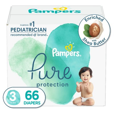 Pampers Pure Protection Diapers Super Pack - Size 3 - 66ct