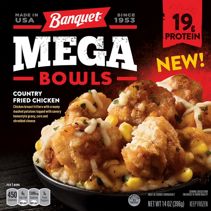 Banquet Counrty Fried Chicken Frozen Mega Bowl - 14oz - image 1 of 1