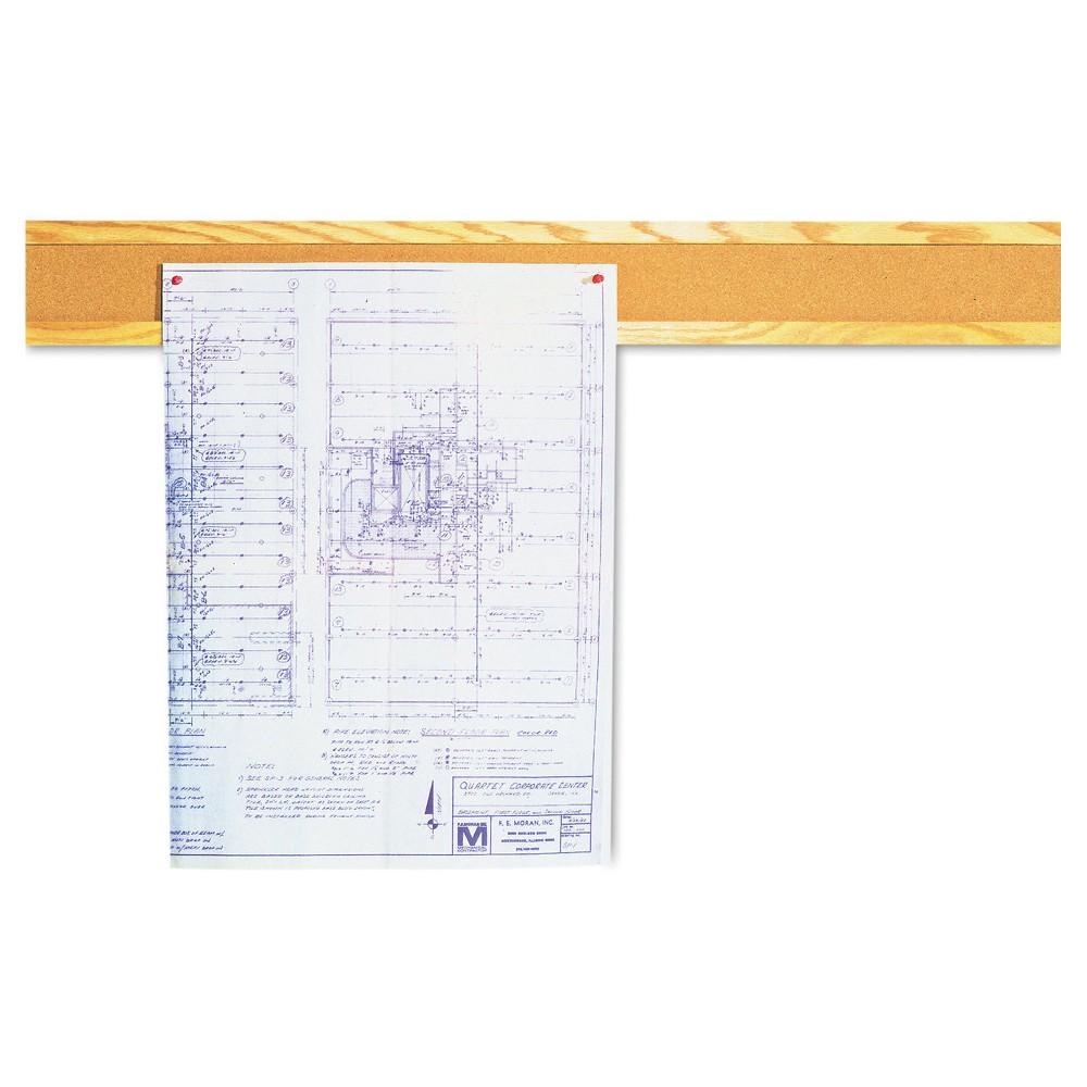 Quartet Cork Bulletin Board Border, Natural Cork, 48 x 5, Oak (Brown) Frame