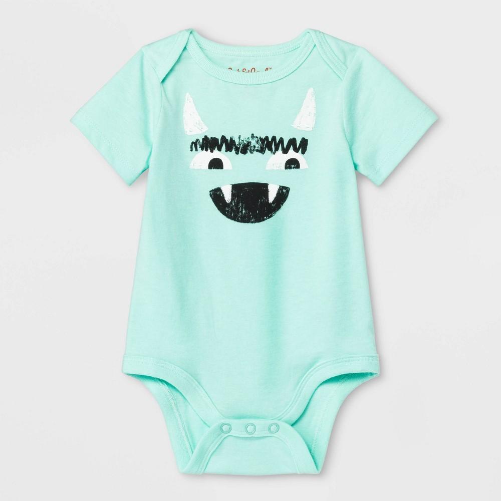 Baby Goblin Bodysuit - Cat & Jack Aqua Newborn, Newborn Unisex, Green