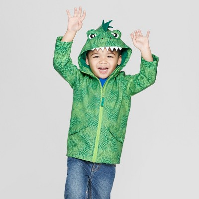 Toddler Boys' Dinosaur Rain Jacket - Cat & Jack™ Green 12M