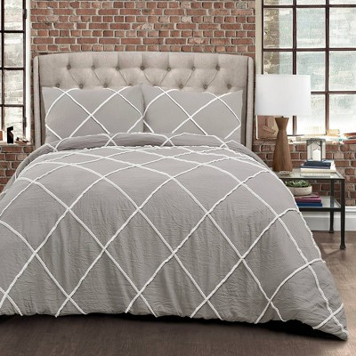 Diamond Pom Pom Comforter Set – Lush Décor