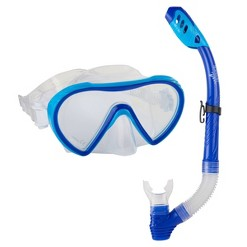 Speedo Adult Expedition MS Snorkel Set - Hawaii Blue/Clear