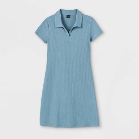 Girls' Short Sleeve Polo Dress - art class™ - image 1 of 2