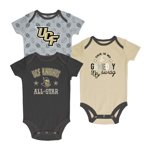 Central Florida Knights Baby Boy Short Sleeve 3pk Bodysuit - image 1 of 1