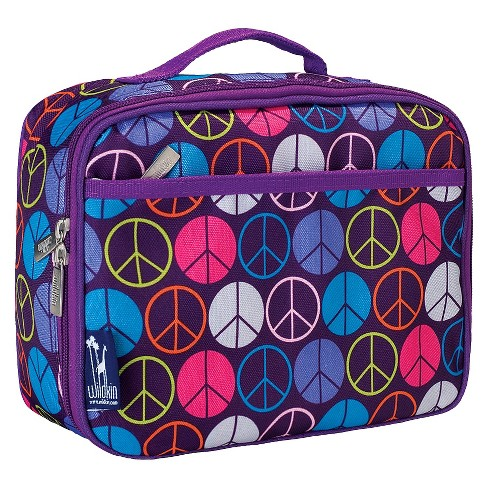 Wildkin Peace Signs Lunch Box - Purple - image 1 of 2