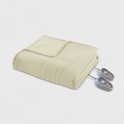 Knitted Micro Fleece Electric Blanket (King)Sage - Beautyrest