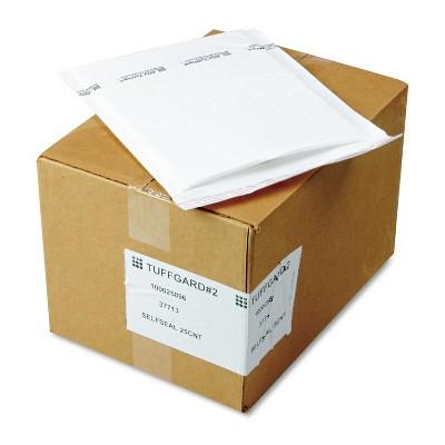 Sealed Air Jiffy TuffGard Self-Seal Cushioned Mailer #2 8 1/2 x 12 White 25/Carton 37713
