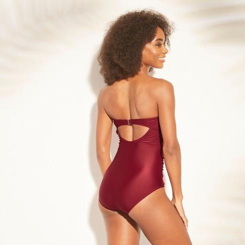 3afa4208331 Women's Shirred Bandeau One Piece Swimsuit - Kona Sol™