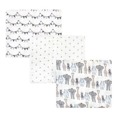Hudson Baby Unisex Baby Cotton Muslin Swaddle Blanket - Royal Safari One Size