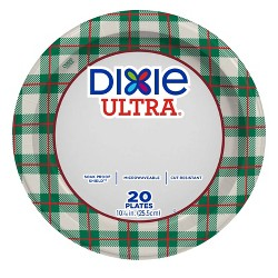 """Dixie Ultra 10 1/16"""" Holiday Paper Plates - 20ct"""