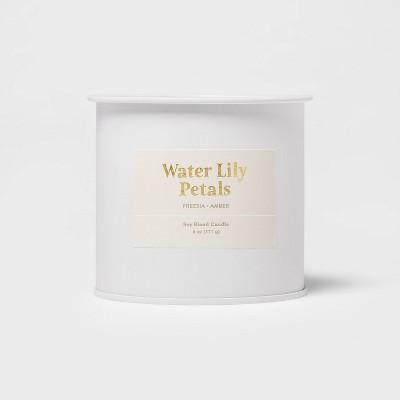 6oz Tin Jar Water Lily Petals Candle - Threshold™