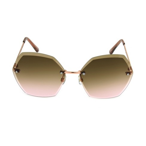 Women's Circle Sunglasses - A New Day™ Bright Gold - image 1 of 4