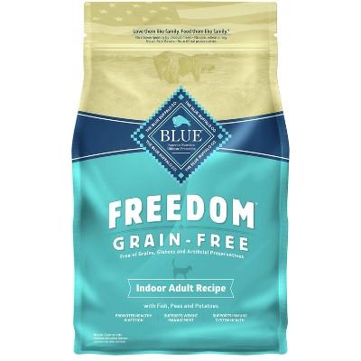 Blue Buffalo Freedom Grain Free Indoor with Fish, Peas & Potatoes Adult Premium Dry Cat Food