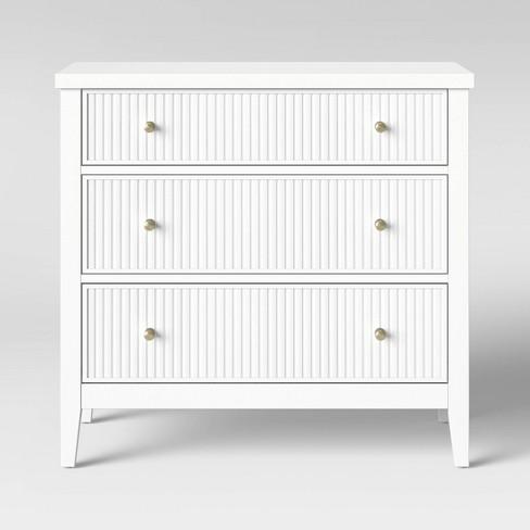 Wrentham Beadboard Farmhouse 3 Drawer Dresser White - Threshold™ - image 1 of 4
