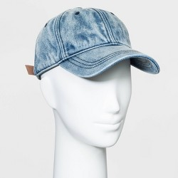 Women's Baseball Denim Hats - Universal Thread™ Blue One Size