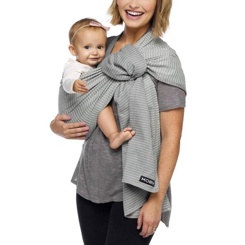 adc5cf7ec5a Moby® Ring Sling Baby Carrier - Silver Streak   Target