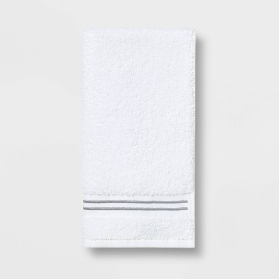 Spa Hand Towel Light Gray Stripe - Threshold Signature™