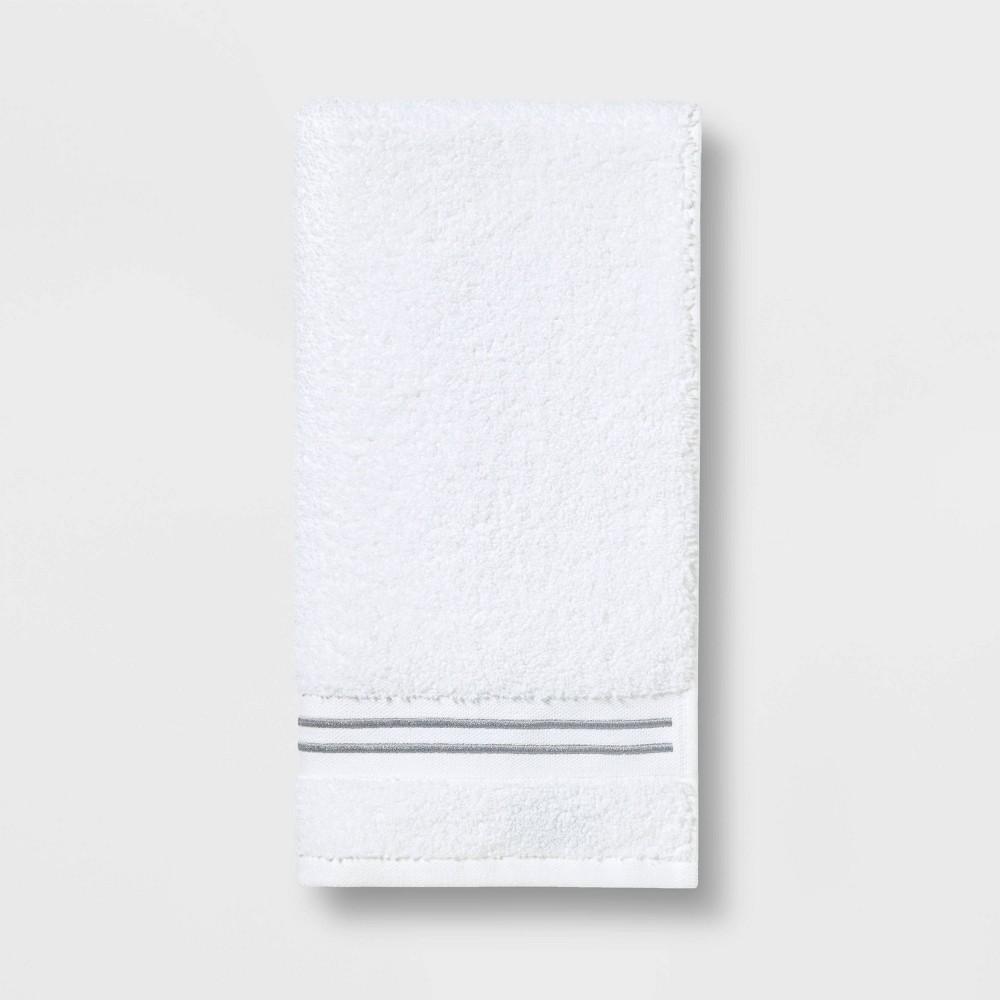 Spa Hand Towel Light Gray Stripe - Threshold Signature Discounts