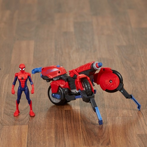 marvel spider man 3 in 1 spider cycle with spider man figure target