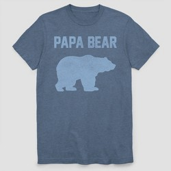 Men's Papa Bear Father's Day Short Sleeve Graphic T-Shirt - Navy Heather