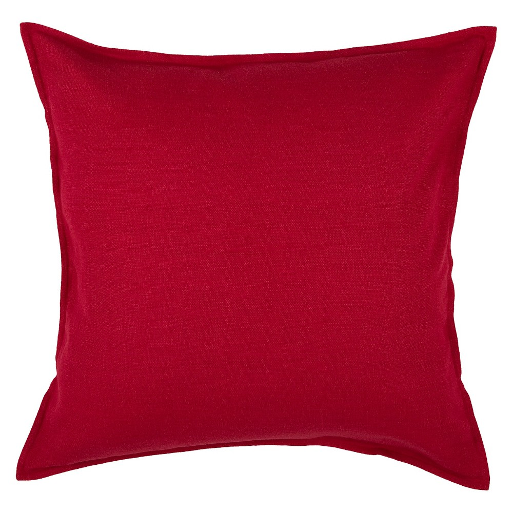 """Image of """"Red Solid Throw Pillow (20""""""""x20"""""""") - Rizzy Home"""""""