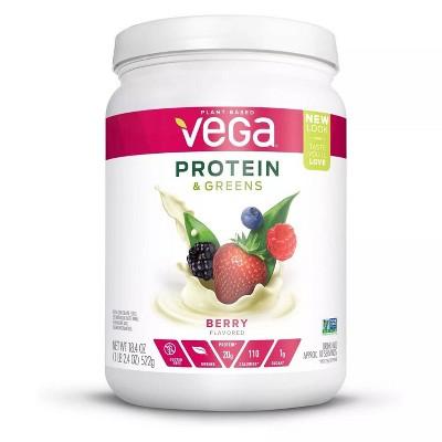 Vega Protein & Greens Vegan Protein Powder - Berry - 18.4oz
