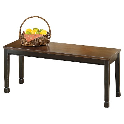 Owingsville Large Dining Room Bench Wood/Black/Brown - Signature Design by Ashley