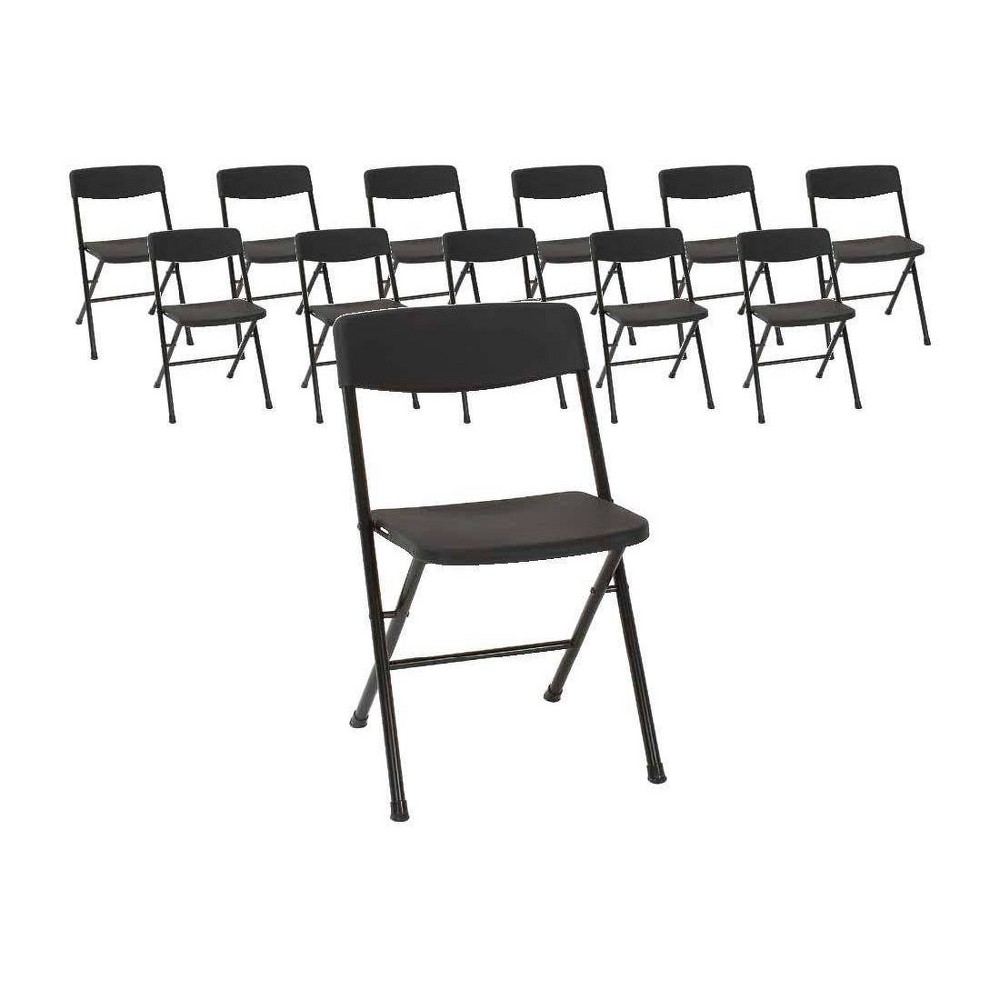 Astonishing Set Of 12 Resin Folding Chair With Molded Seat And Back Squirreltailoven Fun Painted Chair Ideas Images Squirreltailovenorg