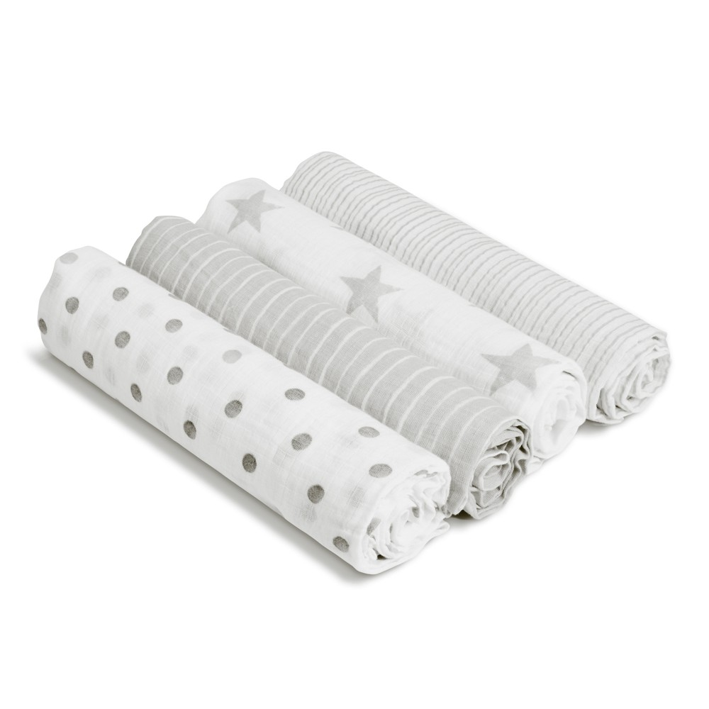 Image of Aden by Aden + Anais Muslin Swaddles - Dusty - Light Gray