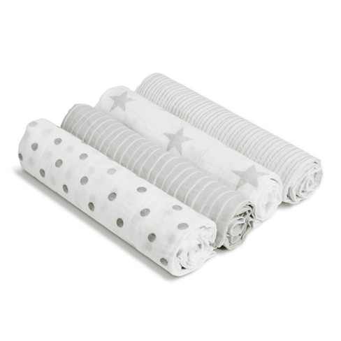 Aden by Aden + Anais Swaddle Blankets - 4pk - Dusty Gray - image 1 of 3
