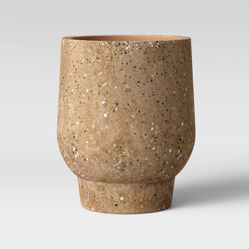"Image of ""10"""" Concrete Terrazzo Terracotta Planter Burgundy - Project 62"""