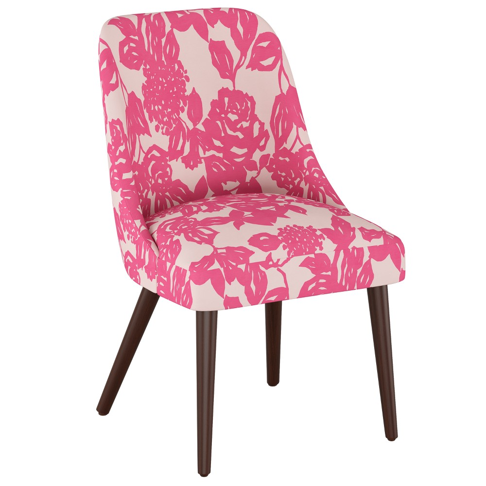 Geller Modern Dining Chair Abstract Rose Raspberry - Project 62