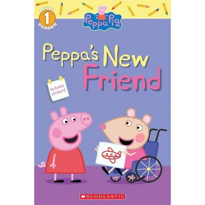 Peppa Meets Mandy Mouse : Level 1 Reader With Stickers -  (Paperback)