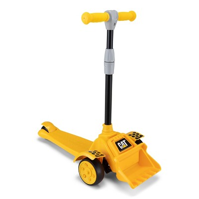 Kid Trax CAT 3 Wheel Kick Scooter - Yellow