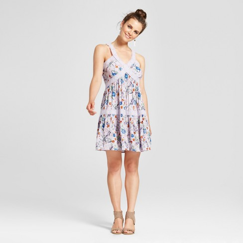 34daac74ad3 Women s Babydoll Shift Dress - Xhilaration™ (Juniors ) Violet   Target