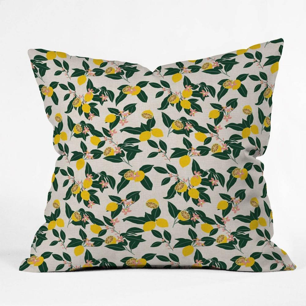 18 34 X18 34 Square Holli Zollinger Lemonny Throw Pillow Deny Designs