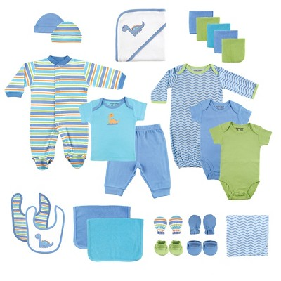 Luvable Friends Baby Boys' 24 Piece Deluxe Gift Set - Blue
