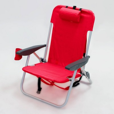 Folding Backpack Chair Red - Room Essentials™