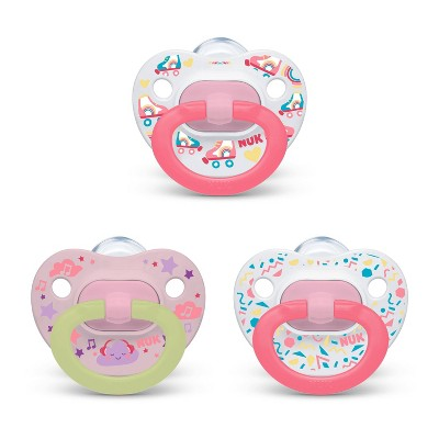 NUK Pacifier Assorted Size 6-18 months Value Pack - Girl - 3pk