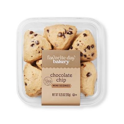 Chocolate Chip Mini Scones - 10.25oz - Favorite Day™
