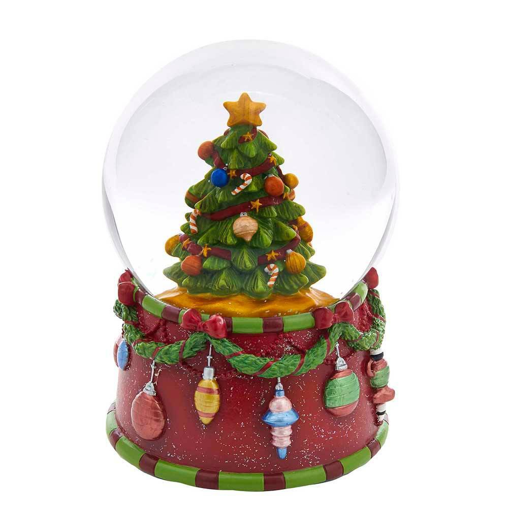 Image of 100mm Kurt Adler Musical Christmas Tree Water Globe