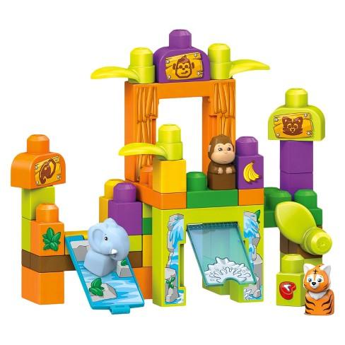 Mega Bloks Storytelling Safari Friends Zoo Block Set - 45pc - image 1 of 2